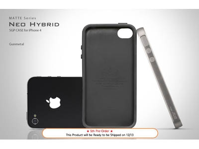 Чехол для iPhone 4 – SGP Case Neo Hybrid Matte Series