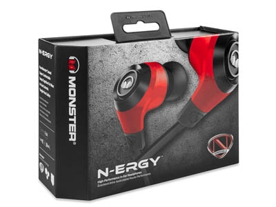 Наушники Monster NCredible NErgy In-Ear Cherry Red MNS-128489-00