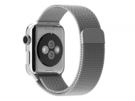 Смарт-часы Apple Watch 38mm Stainless Steel Case with Milanese Loop   (MJ322)