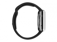 Смарт-часы Apple Watch 38mm Stainless Steel Case with Black Sport Band   (MJ3U2)